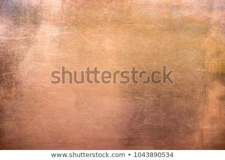 Koper muur metaal plaat zwarte Stockfoto © premiere