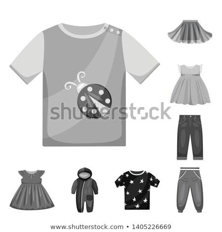 Gray baby cotton sleeveless dress with frill. Stock photo © RuslanOmega