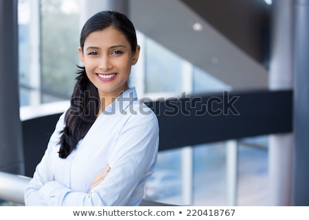 Closeup portrait of gorgeous young female smiling confidently Stock photo © stepstock
