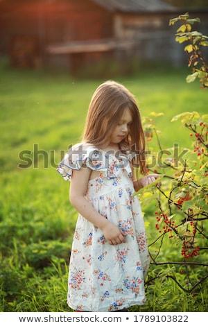美少女 立って ファッション モデル 髪 肖像 ストックフォト © PlusProduction