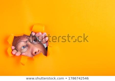 horloge · ruimte · portret · modieus · brunette · schoonheid - stockfoto © lithian