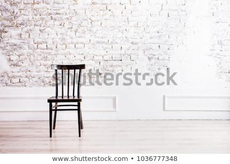 modern wooden chair Stock photo © podsolnukh