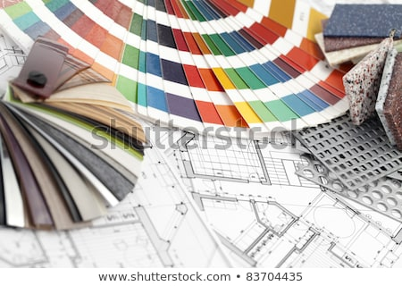 Palette couleur architectural plans maisons Photo stock © Vladimir