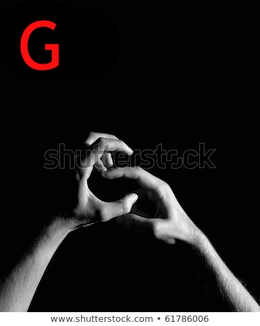 Mektup g işaret dili beyaz yalıtılmış imzalamak yazı Stok fotoğraf © pxhidalgo