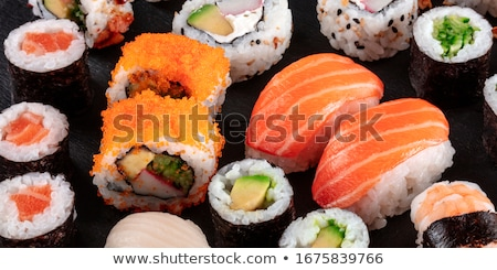 california maki and sushi close up stock photo © kirill_m