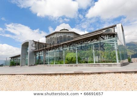 впечатляющий стеклянное здание Эквадор парка бизнеса небе Сток-фото © pxhidalgo