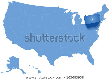 Map of States of the United States where Pennsylvania is pulled out Stock photo © Istanbul2009