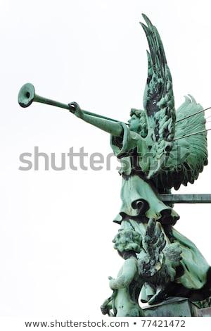 Stockfoto: Engel · plezier · tuin · fontein · Berlijn · kathedraal