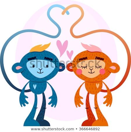 Walentynki kartkę z życzeniami zaproszenie na ślub karty serca wektora Zdjęcia stock © bharat