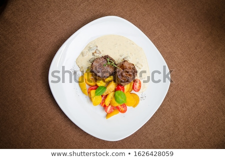 焼き ビーフステーキ 野菜 食品 ステーキ 野菜 ストックフォト © M-studio