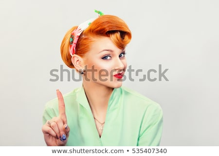 Attractive woman with not say gesture Stock photo © Aikon