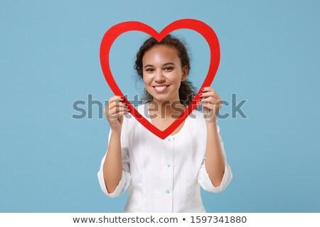 Wdzięczny kobieta czerwony suknia piękna Zdjęcia stock © dash