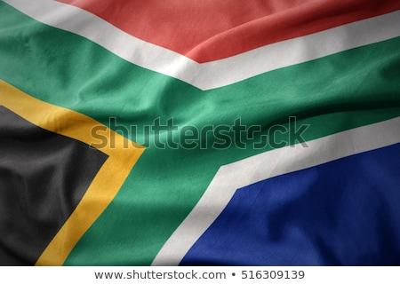 Republik · Südafrika · Flagge · Feuer · Computergrafik · Sterne - stock foto © RAStudio