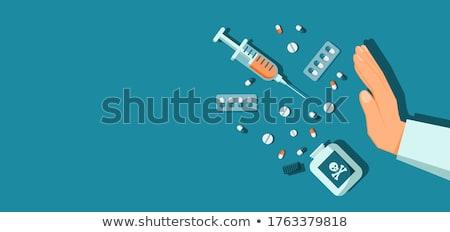 Narkotyków pakiety samochody kabiny samochodu policji Zdjęcia stock © wellphoto