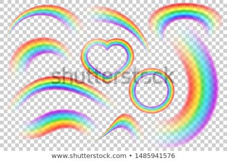 heart-shaped rainbow ribbon Stock photo © nito