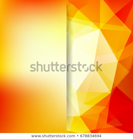 Resumen amarillo vector 3D realista papel Foto stock © orson
