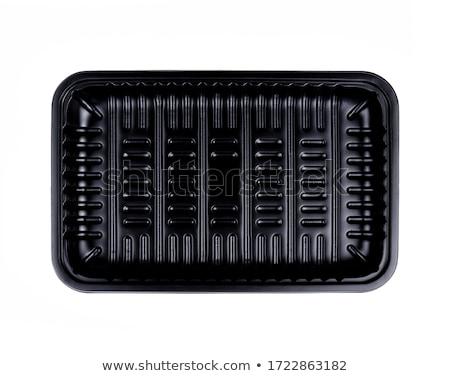 Black Styrofoam Food Tray on White Background  Stock photo © FrameAngel