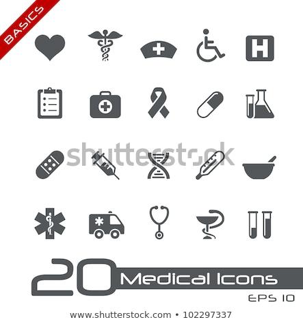orvosi · szimbólum · izolált · fehér · egészség · kórház - stock fotó © designers