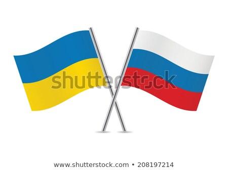 флаг небольшой эмблема цвета иллюстрация Украина Сток-фото © mayboro