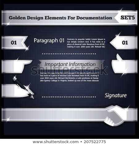 Silver Design Elements For Documentation Set5 Stock photo © Voysla