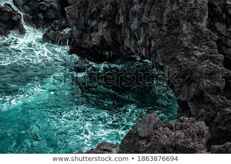 lave · rivière · océan · noir - photo stock © meinzahn