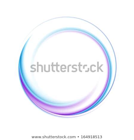 Résumé brillant tourbillon cercle logo vecteur Photo stock © saicle