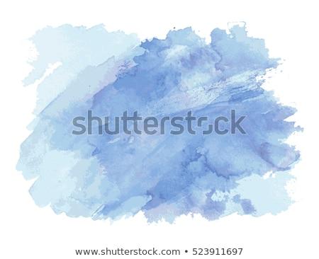 Blue watercolor paint vector blot Stock photo © gladiolus
