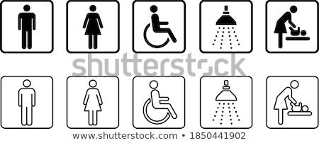 Vektor toalett ikonok hölgy férfi gyermek Stock fotó © LittleCuckoo