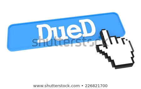 Dued Button with Hand Cursor. Stock photo © tashatuvango