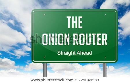The Onion Router on Highway Signpost. Stock photo © tashatuvango