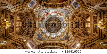 Chandelier and ceiling of the church Stock photo © amok