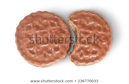 Whole And Bitten Off Chocolate Cookies Stock photo © Cipariss