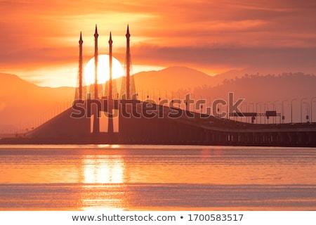 Penang Bridge - Sunrise Stock photo © ivanhor