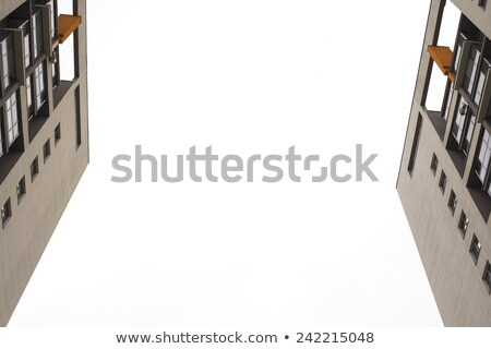 Tops of two tall apartment buildings. Snapshot from the bottom up Stock photo © cherezoff