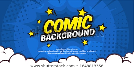 Comic Sterne isoliert rot Macht Sound Stock foto © gemenacom