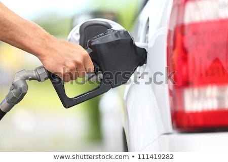 Benzin yakıt Asya adam araba Stok fotoğraf © szefei