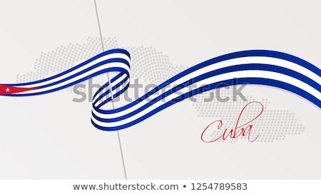 Kuba · térkép · színes · fővárosok · szín · diagram - stock fotó © istanbul2009