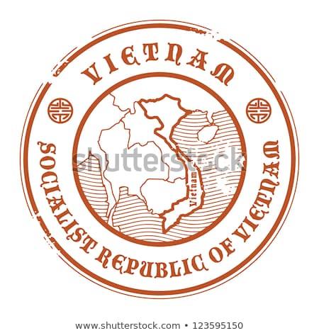 Botão símbolo Vietnã bandeira mapa branco Foto stock © mayboro1964