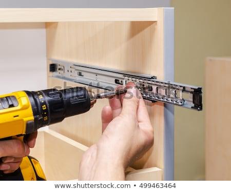 Screwing Chipboard. close-up Stock photo © Valeriy