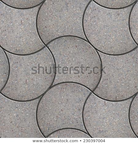 Gray Wavy Paving Slabs. Seamless Tileable Texture. Stock photo © tashatuvango