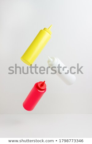 bottles of mustard and ketchup Stock photo © ozaiachin