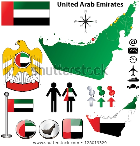 Térkép zászló gomb Egyesült Arab Emírségek Dubai vektor Stock fotó © Istanbul2009