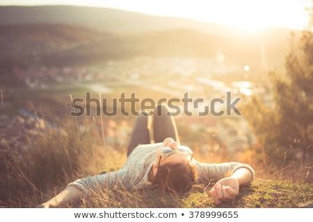 空想 幸せ 女性 クローズアップ 肖像 ストックフォト © ichiosea