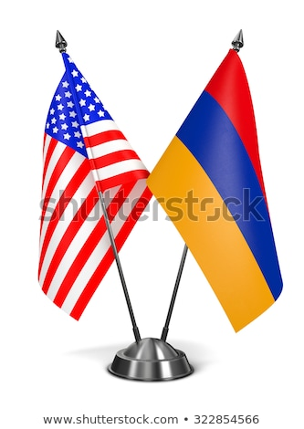 usa and armenia   miniature flags stock photo © tashatuvango