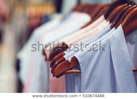 Közelkép ruházat sín ruházat bolt divat Stock fotó © wavebreak_media