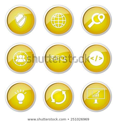 保護された · にログイン · 黄色 · ベクトル · アイコン · ボタン - ストックフォト © rizwanali3d