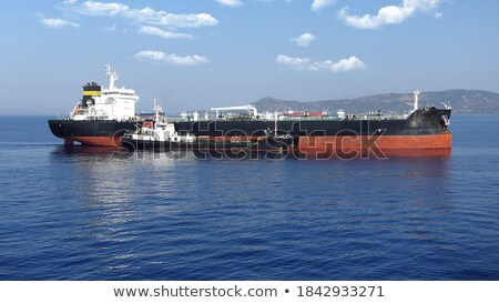 tanker is at anchor near the port Stock photo © Nobilior