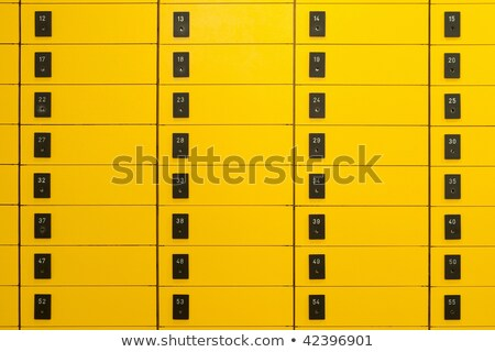 Stock photo: Safety Yellow Post Boxes