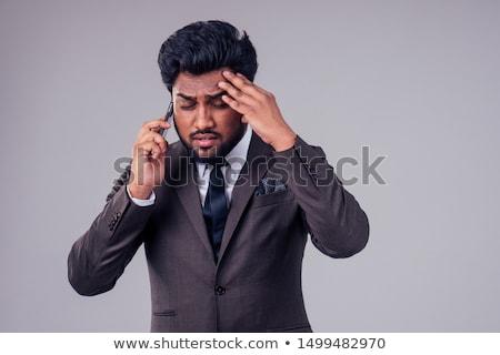 Ideges üzletember izolált fehér üzlet férfi Stock fotó © fuzzbones0