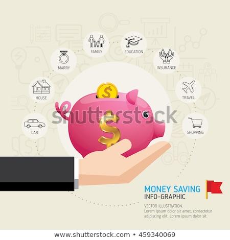 Info gouden vector icon ontwerp zwarte Stockfoto © rizwanali3d